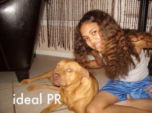 Paige Hurd and pitbull Vanessa
